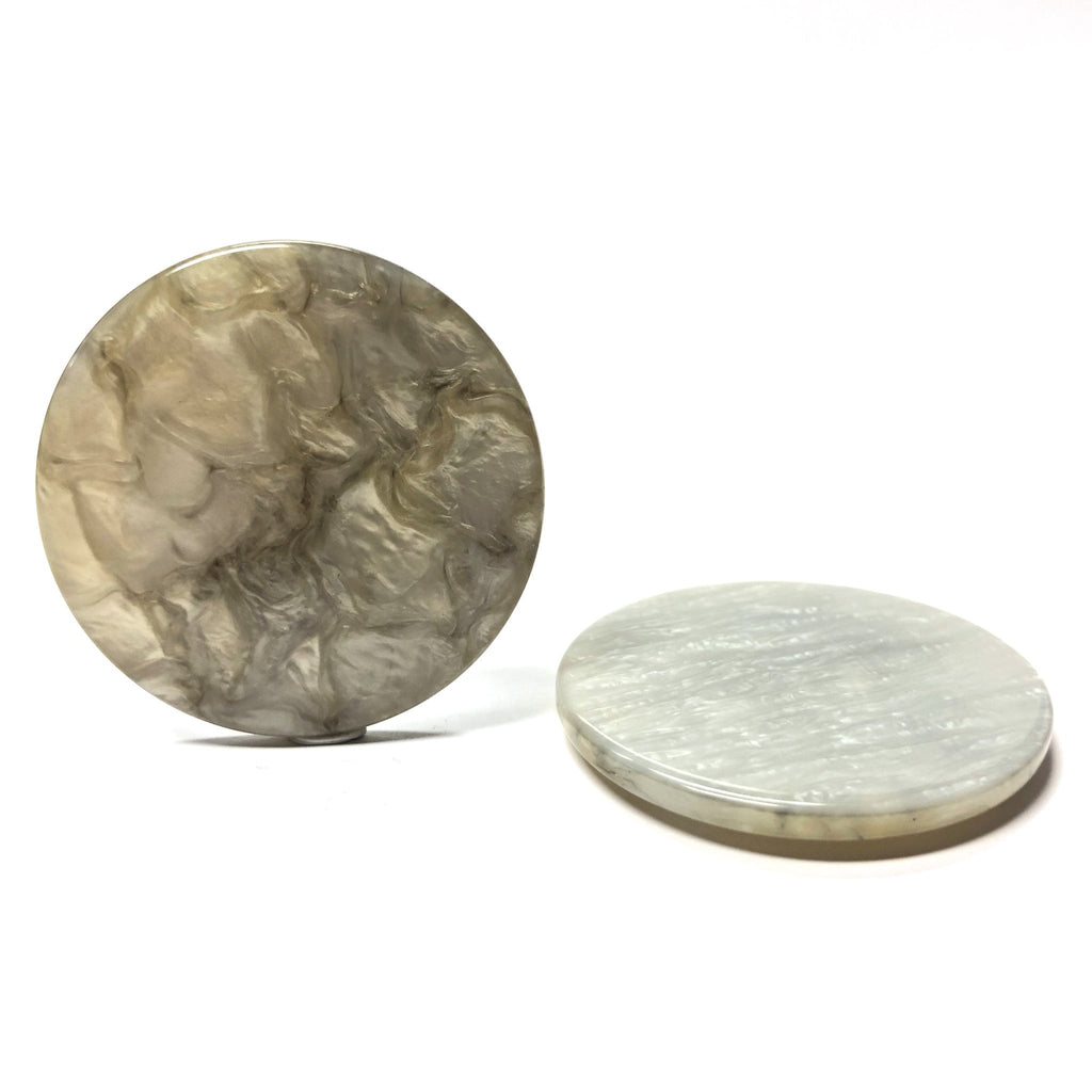 "40MM ""Scilla"" Grey Round Cab (2 pieces)"