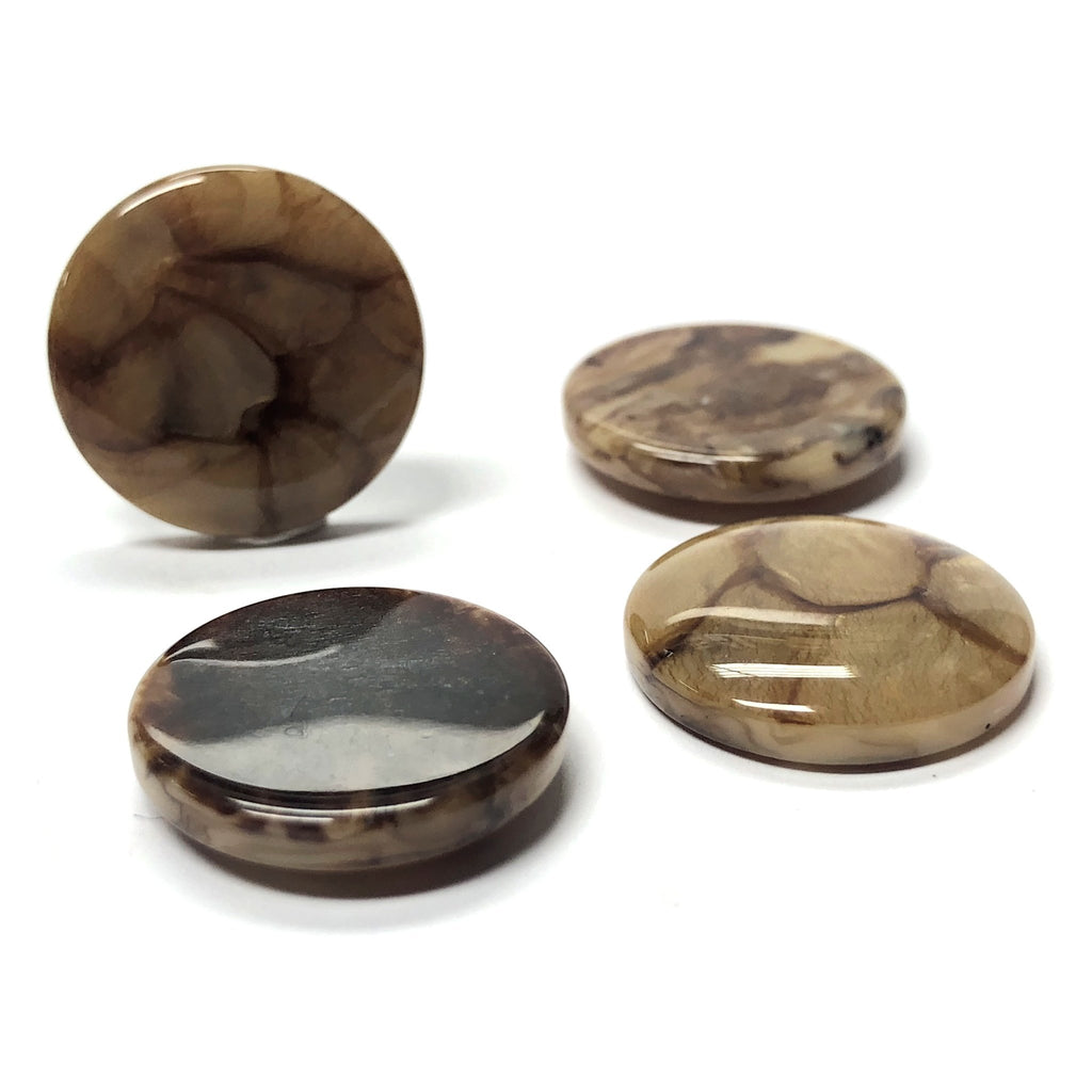 "25MM ""Scilla"" Brown Round Cab (12 pieces)"