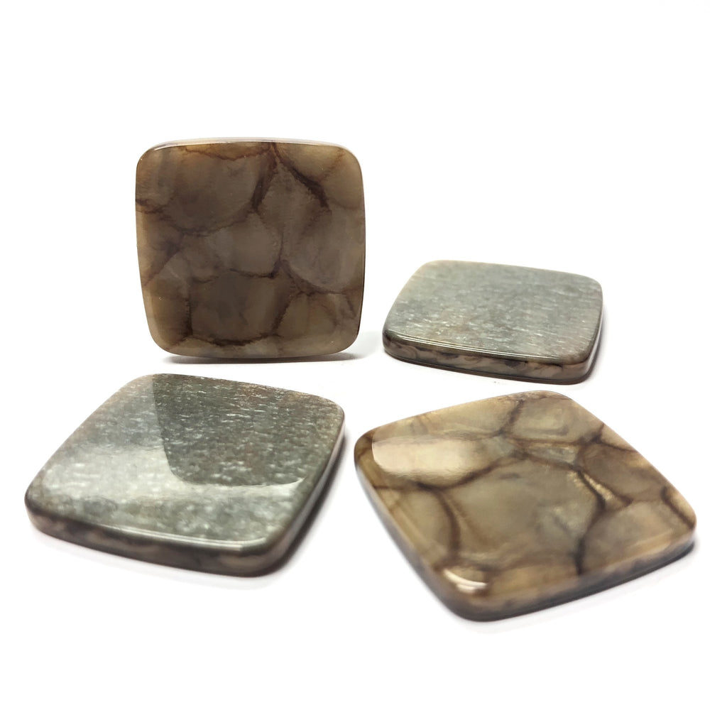"25MM ""Scilla"" Brown Square Cab (6 pieces)"