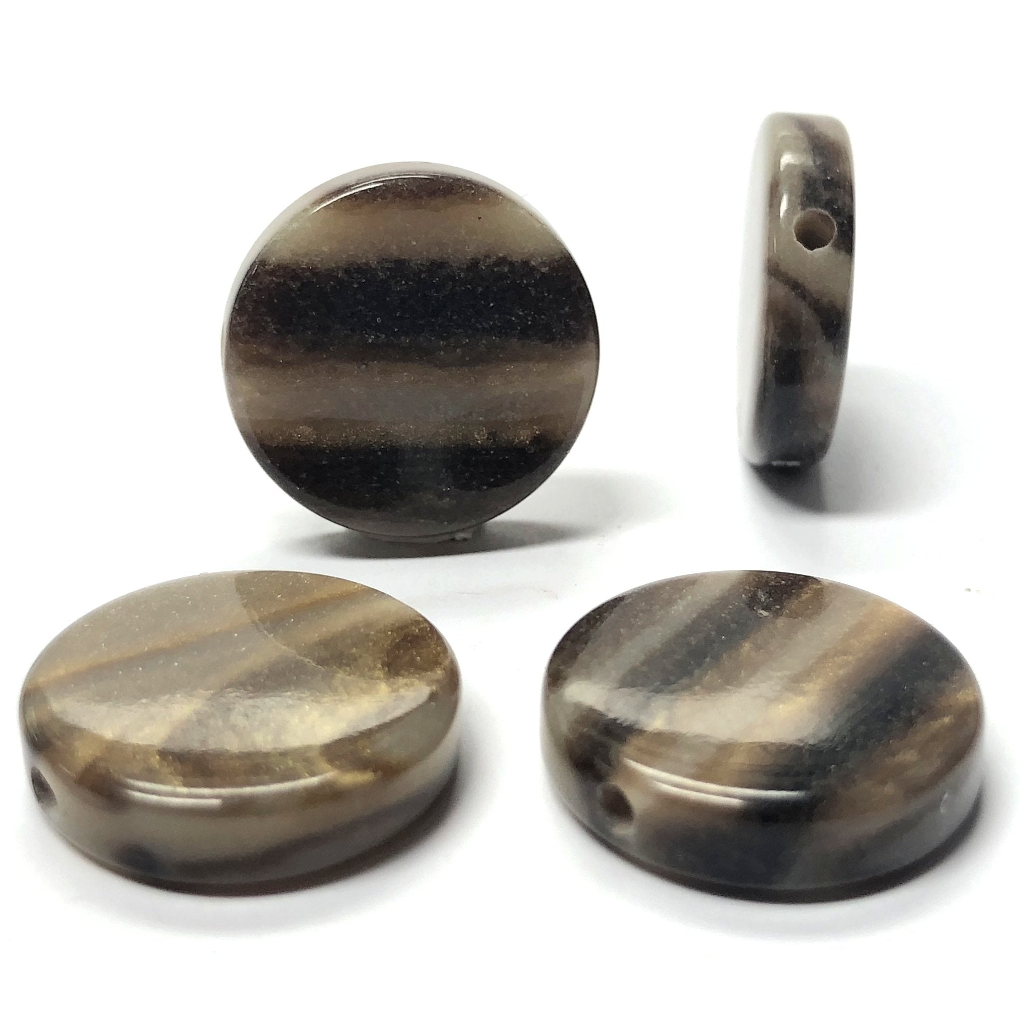 "14MM ""Saturn"" Disc Bead (12 pieces)"