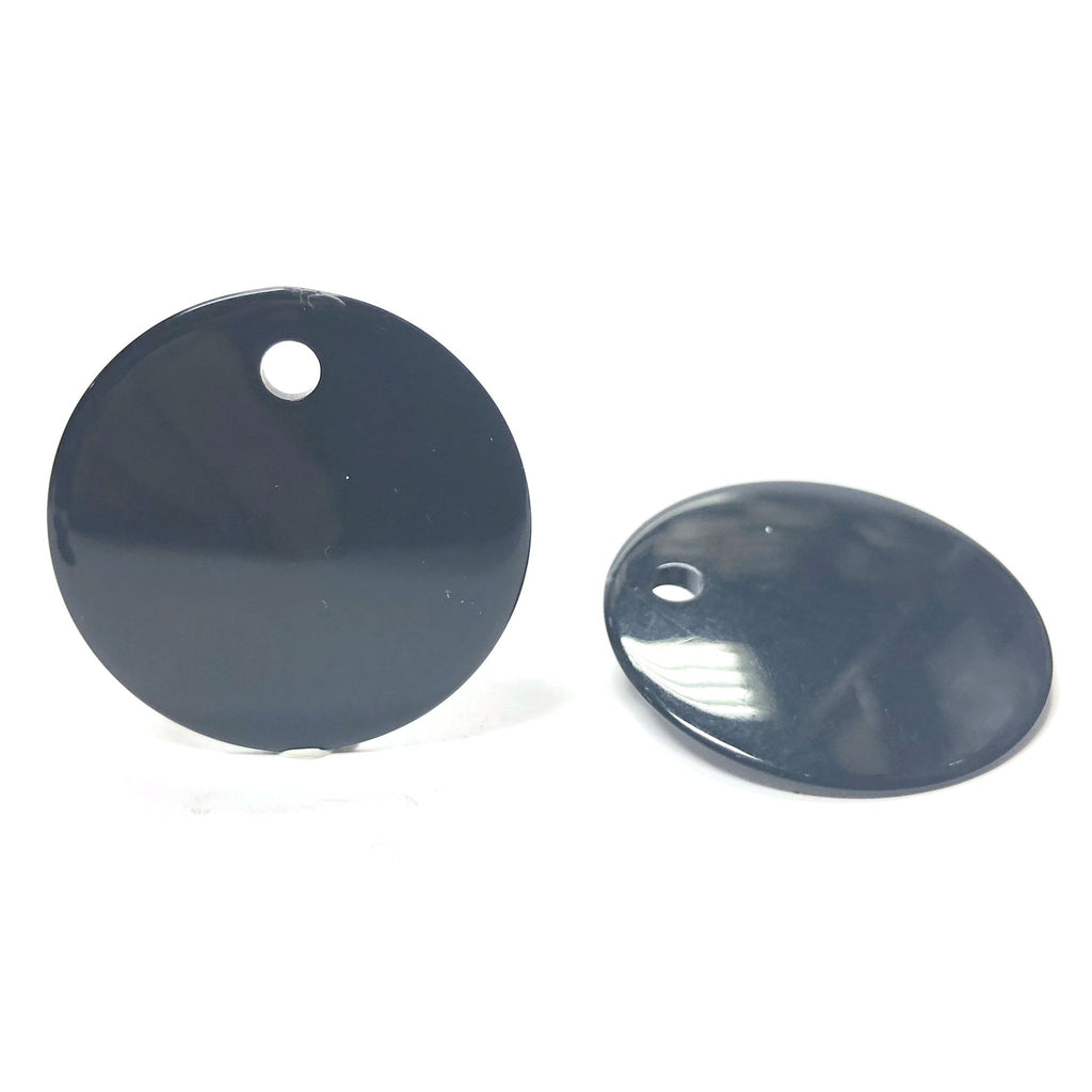 30MM Black Disc Drop (24 pieces)