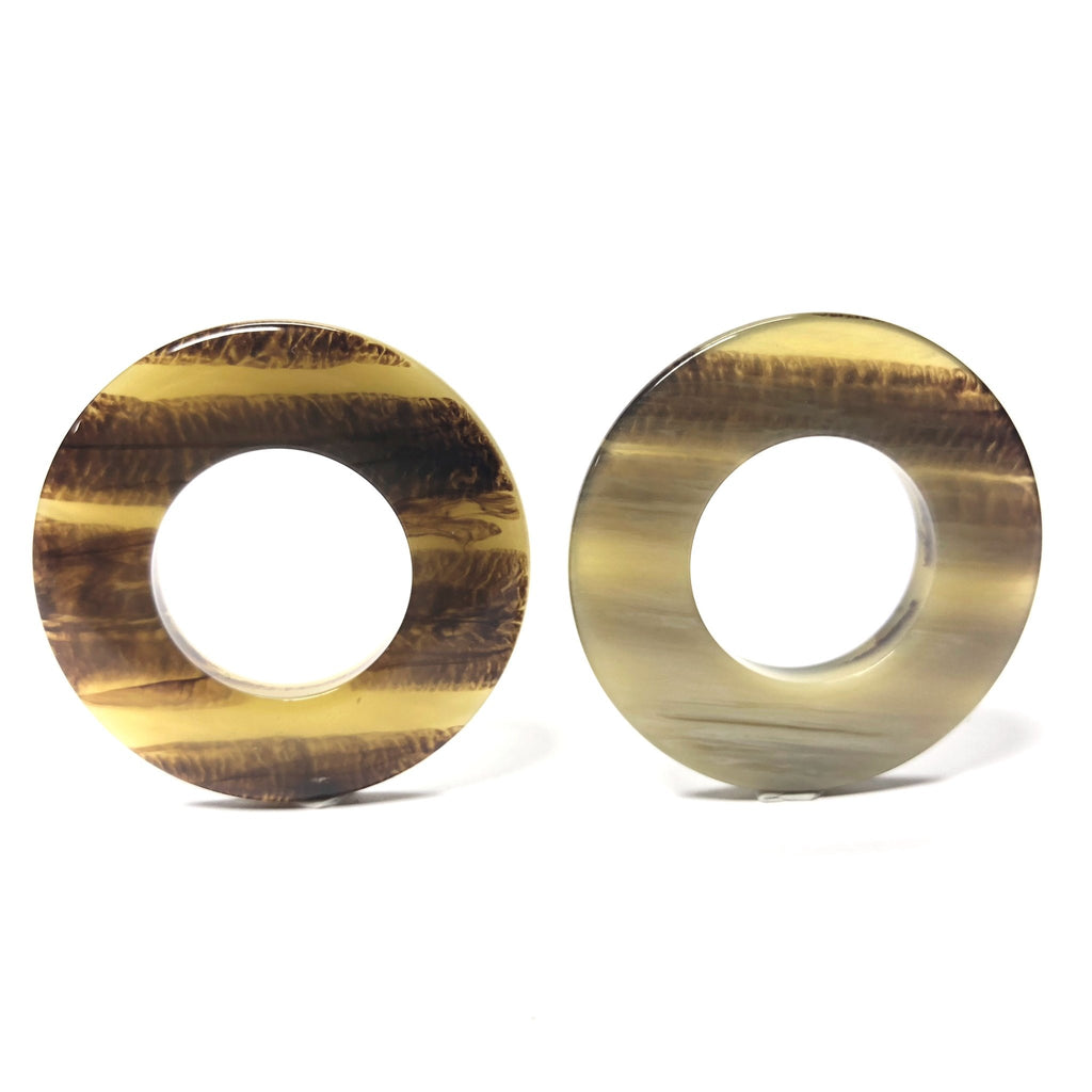 "34MM ""Striped Horn"" Reversible Ring (3 pieces)"