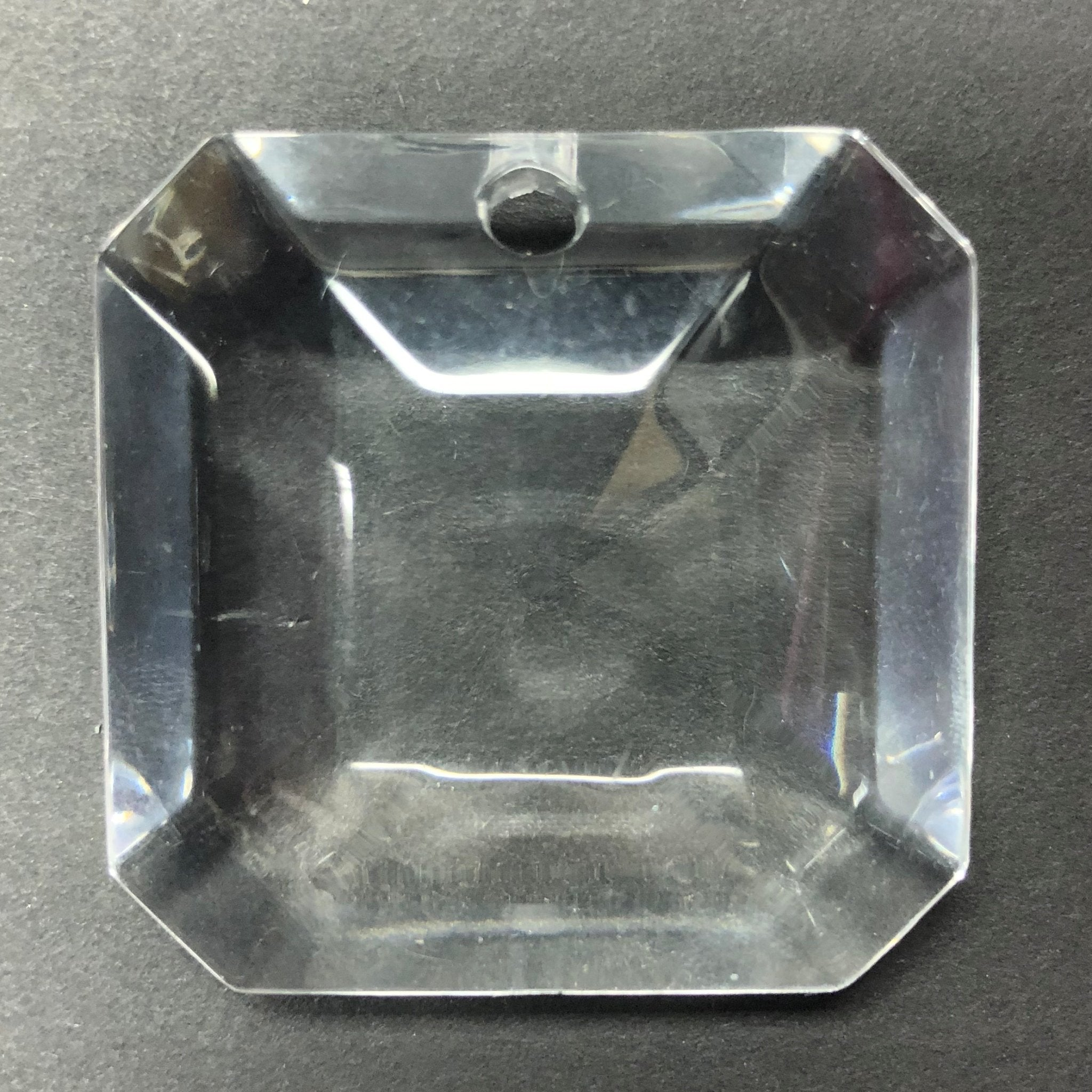 43X43MM Crystal Faceted Square Drop (1 piece)