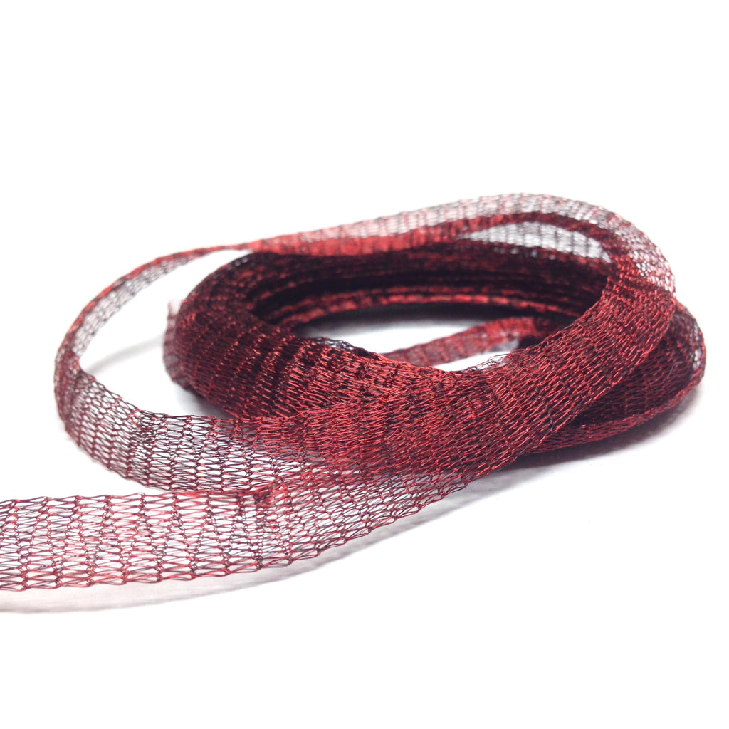 6MM Brass Mesh Garnet ~ 5 Meters