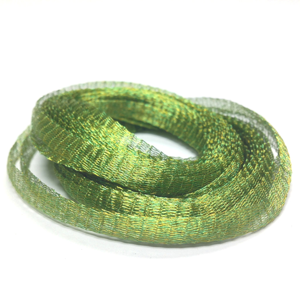 6MM Brass Mesh Peridot ~ 5 Meters