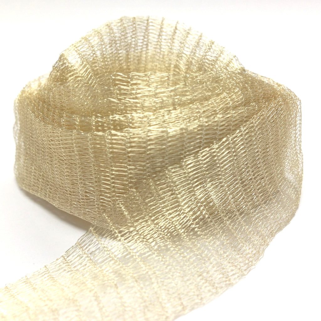 20MM Brass Mesh Light Gold ~ 1 Meter