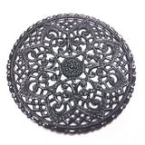 Black Lacquered Brass Filigree 40MM Disc (1 piece)