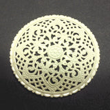 Ivory Lacquered Brass Filigree 40MM Disc (1 piece)