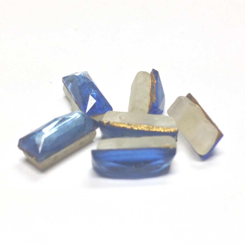 12X5MM Sapphire Glass Foiled Sew On (2Hole) (144 pieces)