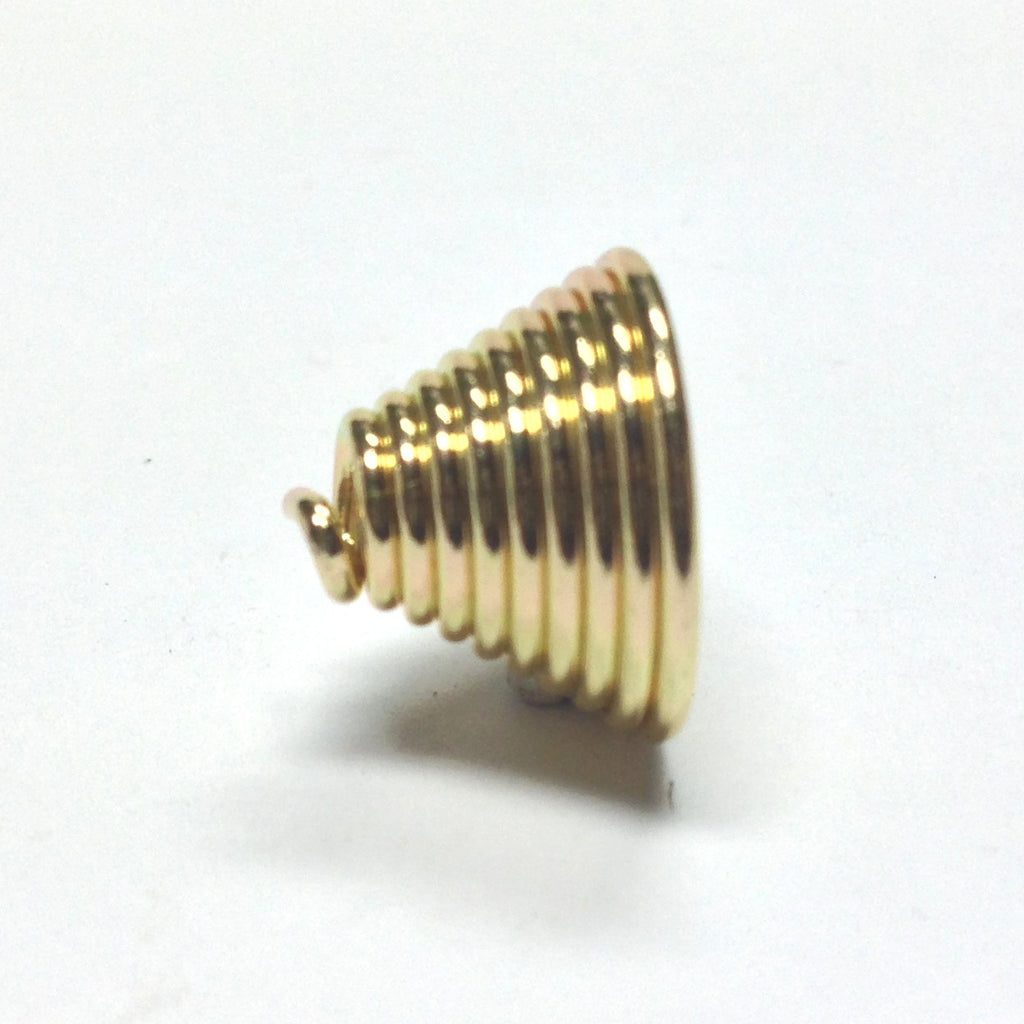 10X14MM Goldtone Coil Cap (36 pieces)