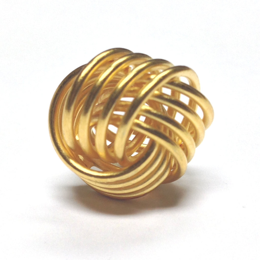 18MM Gold Plated Love Knot (4 pieces)