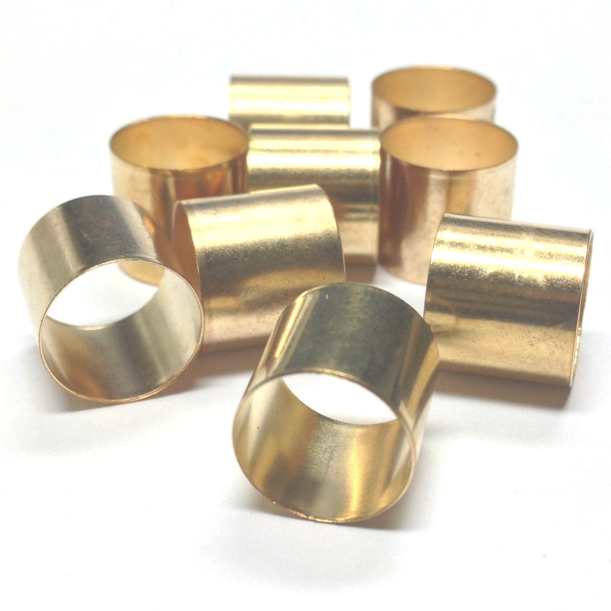 10MM Goldtone Brass Tube (36 pieces)