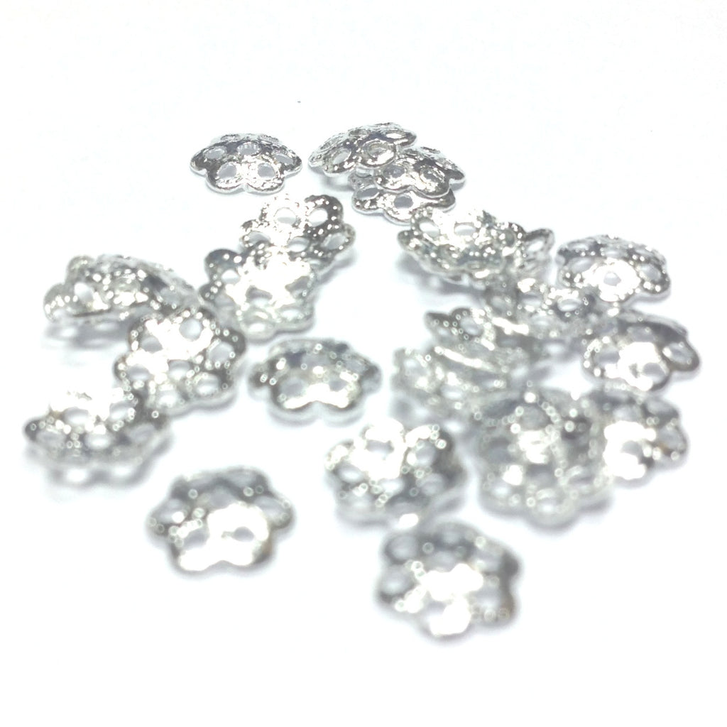 6MM Silvertone Filigree Cap (288 pieces)