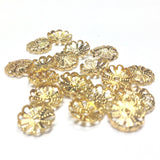 8MM Goldtone Filigree Cap (144 pieces)