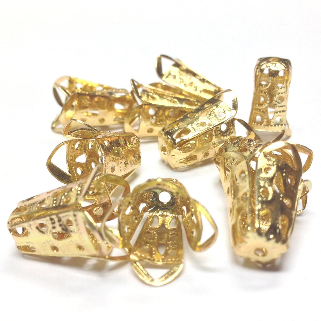 14X12X7MM Goldtone Filigree Cap (36 pieces)