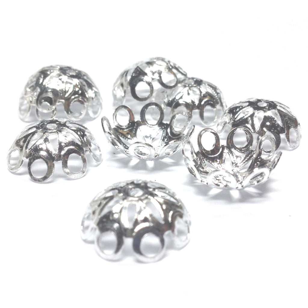 14X5.5MM Silvertone Filigree Cap (36 pieces)