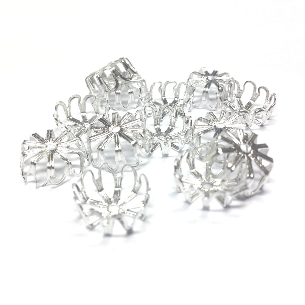 12X5MM Silvertone Filigree Cap (36 pieces)