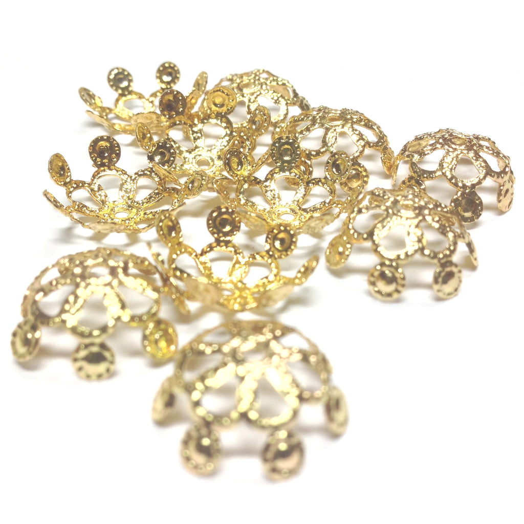 14X5.5MM Goldtone Filigree Cap (36 pieces)