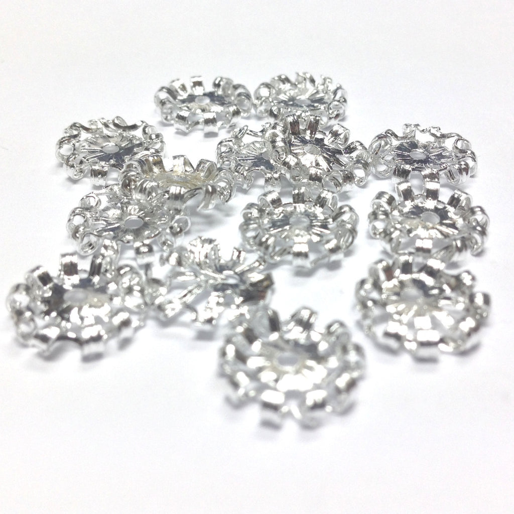 11X2.5MM Silvertone Rondel (72 pieces)