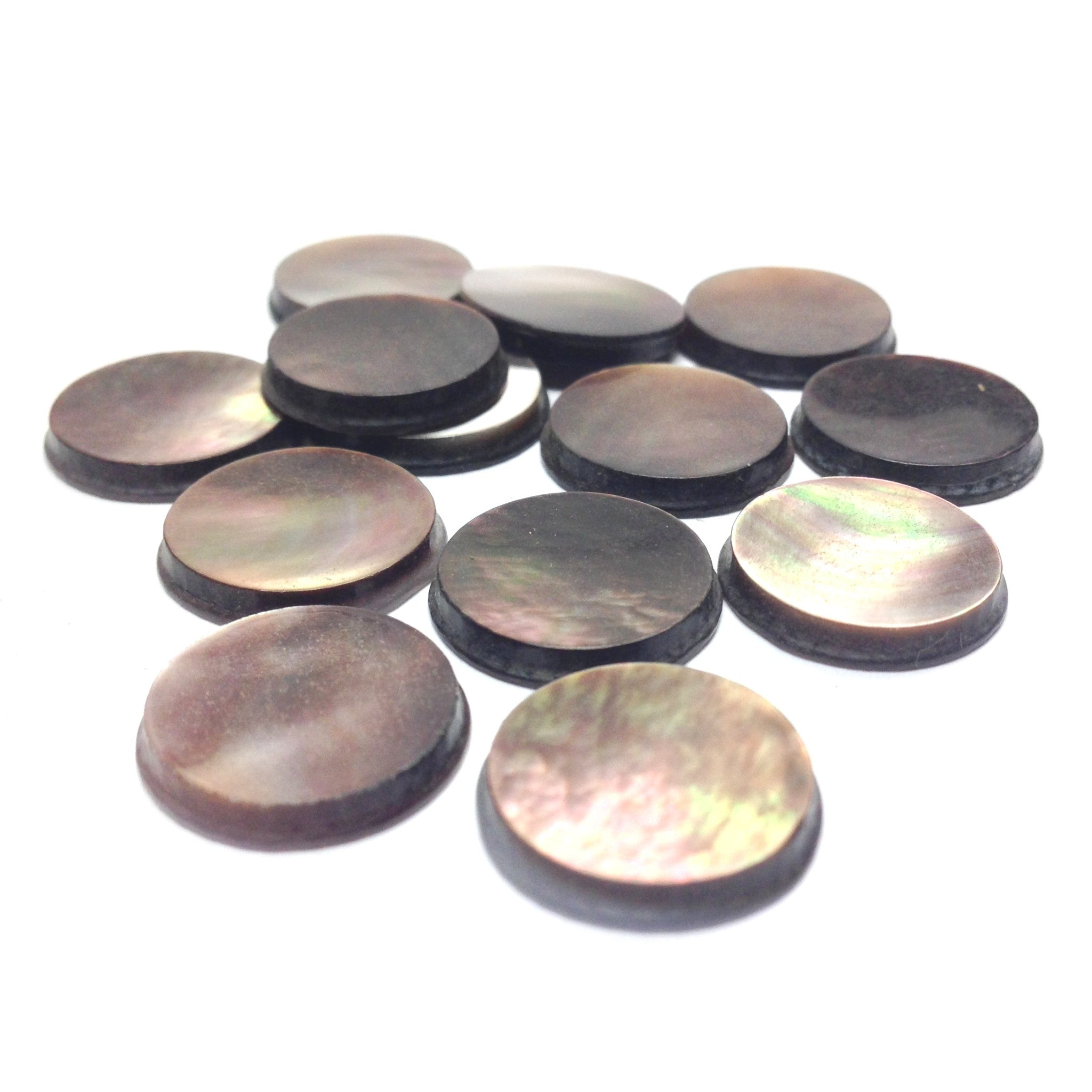 15X2.3MM Black MOP Shell Round Cab (72 pieces)