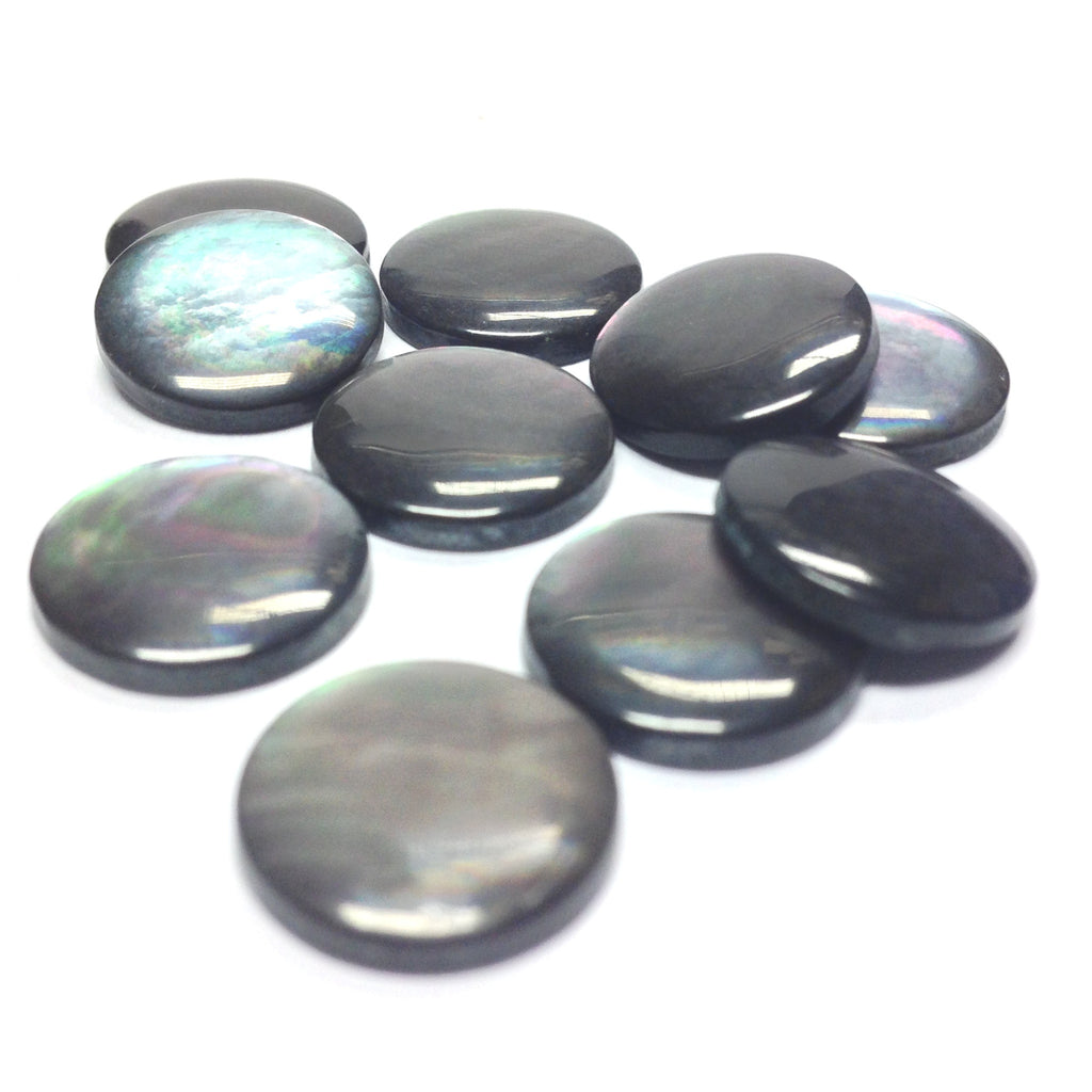13X2.6MM Black MOP Shell Round Cab (72 pieces)
