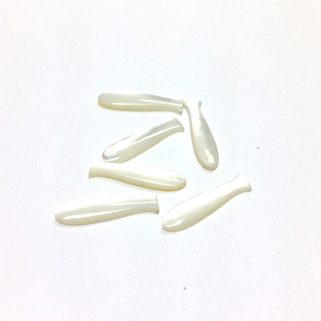 18X4.5MM White MOP Shell Fish Cab (72 pieces)