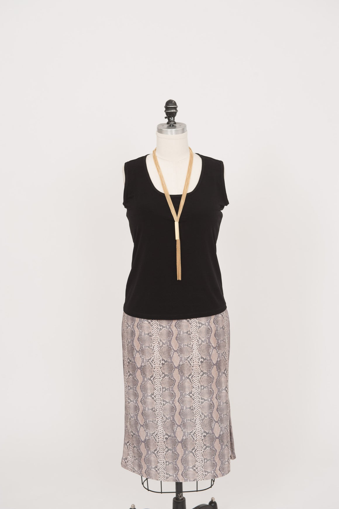 Long Slim Skirt - Snake Print - ali and edi - 1