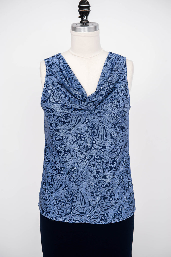 Cowel Neck Sleeveless Top - ali and edi - 10