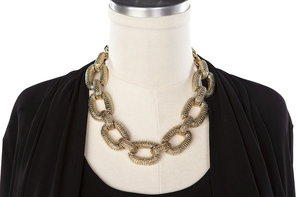 Textured Chain Link Necklace - ali and edi - 4