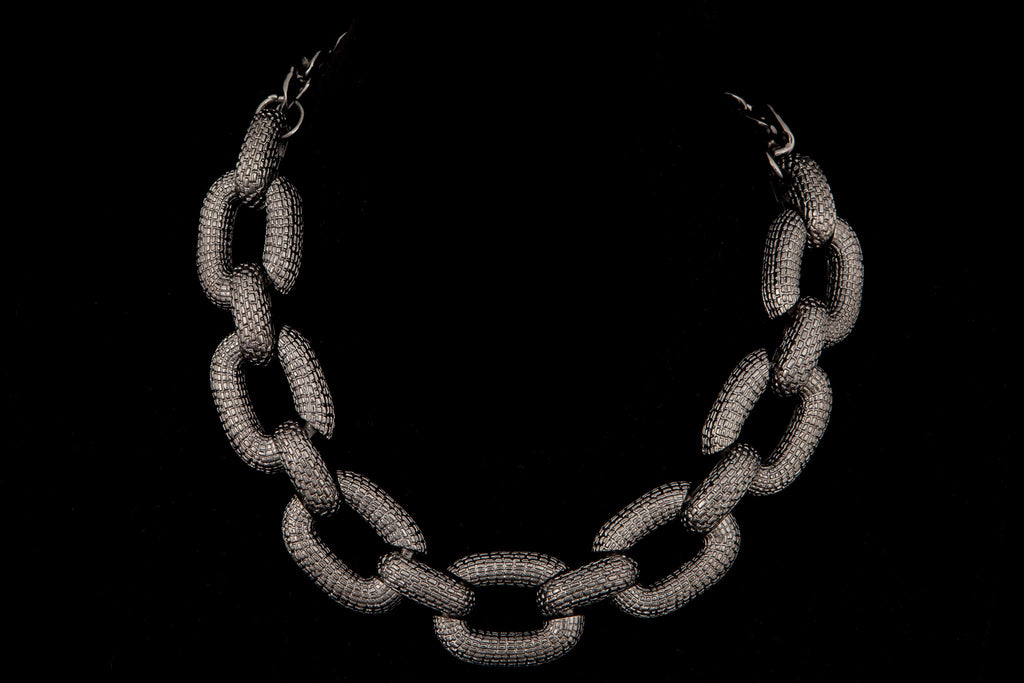 Textured Chain Link Necklace - ali and edi - 2