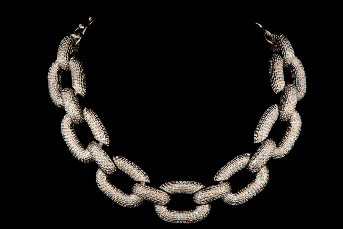 Textured Chain Link Necklace - ali and edi - 1