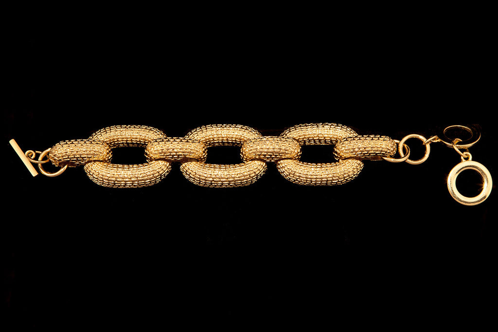 Chain Link Bracelet in Gold - ali and edi - 1