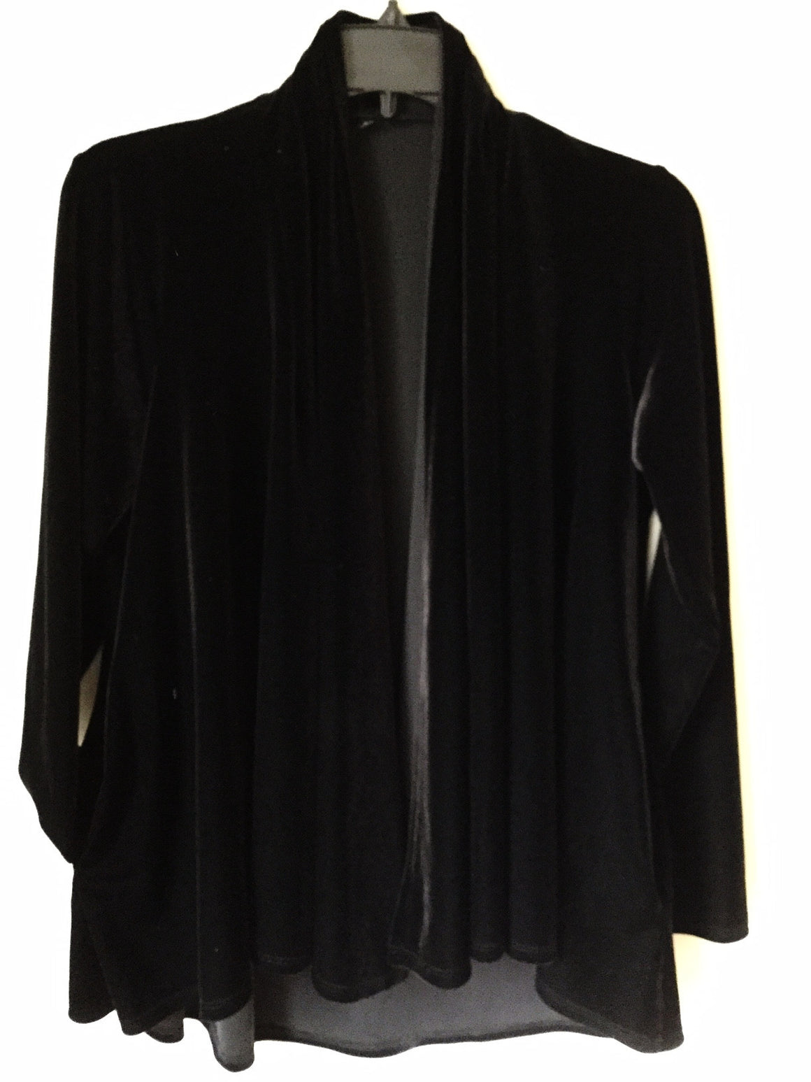 Drape Front Jacket~Black Velour - ali and edi - 1