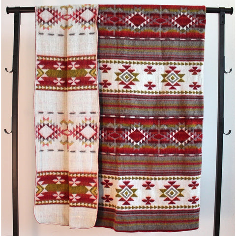 Alpaca Blanket: Andean Design - Autumn Leaves