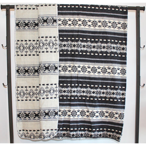 Alpaca Blanket: Andean Design - Andean Winter
