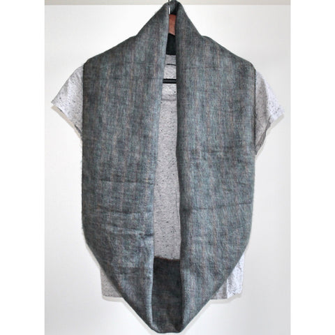 Alpaca Infiniti Scarf - Green Grey Splash