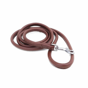 Rolled Leather Dog Lead - Small dog