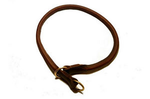 rolled leather choke collar