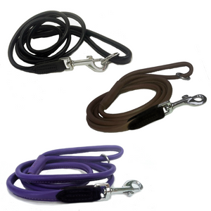Soft Rolled Leather Dog Lead