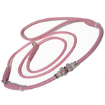 Leather and cord slip show lead with Bling