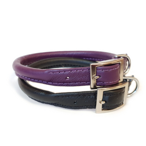 Rolled Leather Dog Collar