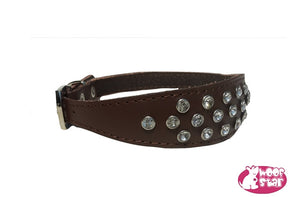 Diamond collar - Soft leather