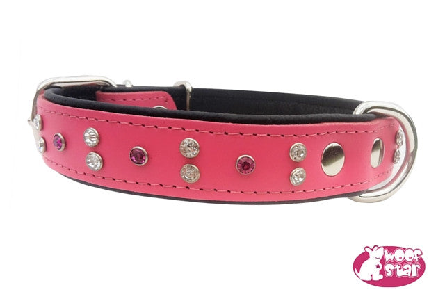 Crystal Leather collar