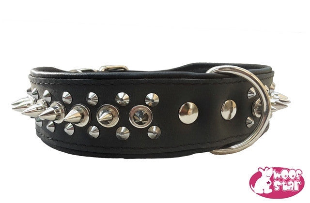 Spiked Dog Collar - Black