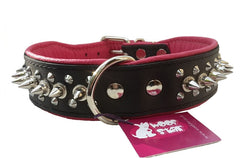 Spiked Dog Collar - Pink
