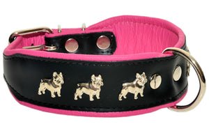 Collar - Pink French Bulldog Collar ( Three Different Ones)