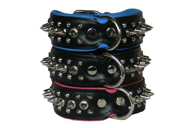 Collar - Spiked Dog Collar - Wide