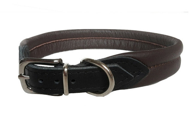 Soft Ribbed Leather Collar