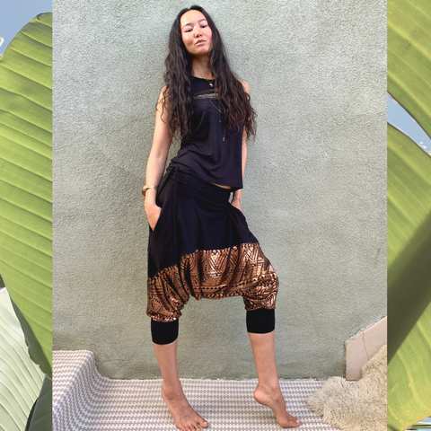 Gold + Tribal | Drop Pants | Her