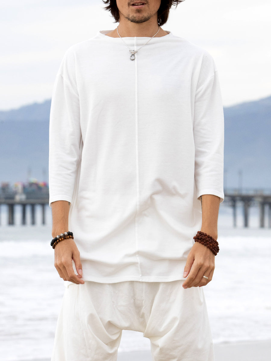 Middle Way | White Mens Top